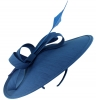 Failsworth Millinery Silk Disc Headpiece in Cobalt