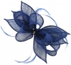 Failsworth Millinery Sinamay Clip Fascinator in Cobalt