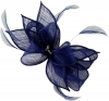 Failsworth Millinery Sinamay Diamante Clip Fascinator in Cobalt
