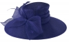 Failsworth Millinery Wide Brimmed Events Hat in Cobalt