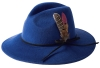 Failsworth Millinery Brushed Wool Felt Trilby in Cobalt