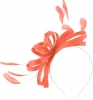 Failsworth Millinery Sinamay Loops Fascinator in Coral (SS19)