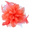 Aurora Collection Flower Comb Fascinator in Coral
