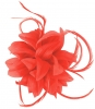 Aurora Collection Flower and Biots Fascinator in Coral