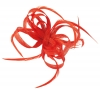 Aurora Collection Loops in Hessian Fascinator in Coral