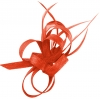 Aurora Collection Sinamay Loops Comb Fascinator in Coral