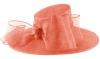 Failsworth Millinery Bow Ascot Hat in Coral (SS19)