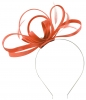 Failsworth Millinery Satin Loops Aliceband Fascinator in Coral