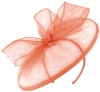 Failsworth Millinery Sinamay Disc in Coral (SS19)