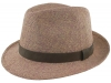 Failsworth Millinery Straw Trilby in Coral