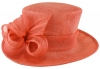 Hawkins Collection Short Upbrim Wedding Hat in Coral