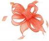 Hawkins Collection Sinamay Fascinator in Coral