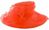 Libby Bea Collapsible Occasion Hat in Coral