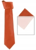 Max and Ellie Mens Tie and Pocket Square Set in Coral