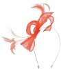Max and Ellie Sinamay Fascinator in Coral