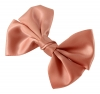Molly and Rose Faux Satin Hair Bow in Coral