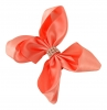 Molly and Rose Small Diamante Hair Bow in Coral