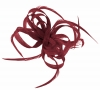Aurora Collection Loops in Hessian Fascinator in Cranberry