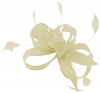 Hawkins Collection Sinamay Fascinator in Cream