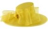 Failsworth Millinery Bow Ascot Hat in Daffodil