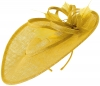 Failsworth Millinery Shaped Saucer Headpiece in Daffodil
