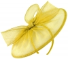Failsworth Millinery Disc Headpiece in Daffodil