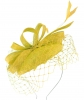 Failsworth Millinery Sinamay Pillbox in Daffodil