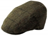 Failsworth Millinery Waterproof Tweed Porelle Cap in Dark Brown