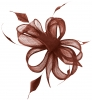 Hawkins Collection Sinamay Fascinator in Dark Red