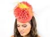 Deb Fanning Millinery Flower Power Orange Dahlia Hat