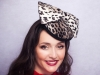 Deb Fanning Millinery Leopard Print Bow Hat