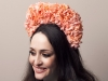Deb Fanning Millinery Peach Petal Crown