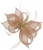 Failsworth Millinery Sinamay Clip Fascinator in Dusk