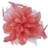 Aurora Collection Flower Comb Fascinator in Dusky Pink