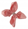 Molly and Rose Small Diamante Hair Bow in Dusky Pink