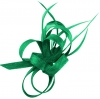Aurora Collection Sinamay Loops Comb Fascinator in Emerald