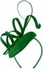 Failsworth Millinery Quill Pillbox in Emerald