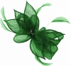 Failsworth Millinery Sinamay Diamante Clip Fascinator in Emerald