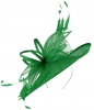 Max and Ellie Ascot Disc Headpiece in Emerald