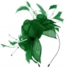Max and Ellie Diamante Fascinator in Emerald