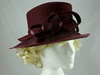 Failsworth Millinery Sinamay and Wool Events Hat in Wine