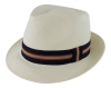 Failsworth Millinery Trilby Panama Hat in Ivory
