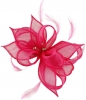 Failsworth Millinery Sinamay Clip Fascinator in Fandango
