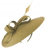 Failsworth Millinery Silk Disc Headpiece in Fawn