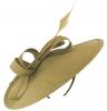 Failsworth Millinery Silk Disc Headpiece in Fawn