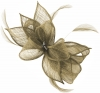 Failsworth Millinery Sinamay Diamante Clip Fascinator in Fawn