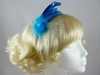 Feather and Net Fascinator in Turquoise