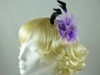Feather Flower Fascinator in Lilac