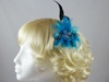 Feather Flower Fascinator in Turquoise