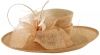 Failsworth Millinery Quills Ascot Hat in Rose-Gold